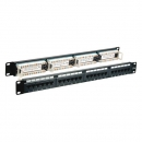 Patchpanel 24xRJ45 Cat.5e UTP