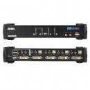 4 Port USB2.0 DVI KVMP Switch