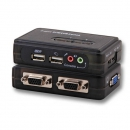 2-Port KVM Switch USB-Audio