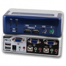 2-Port KVM Switch PS/2-USB-Aud